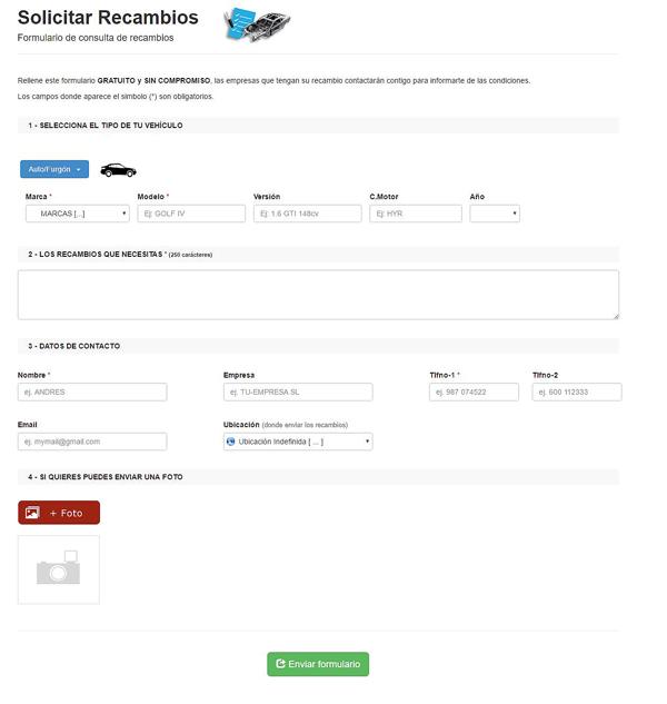 formulario de peticiones