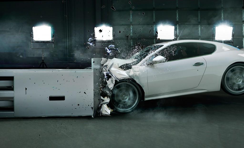 piezas del coche se deforman para aumentar la seguridad