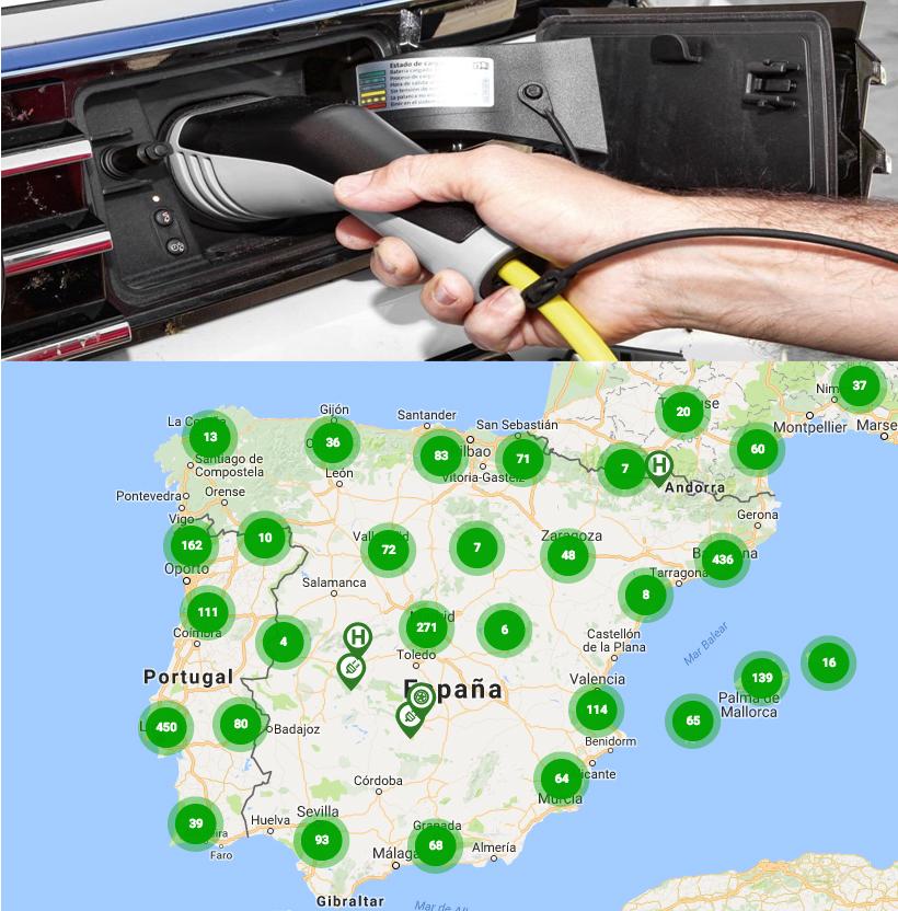 Puntos de carga más cercanos para tu coche eléctrico