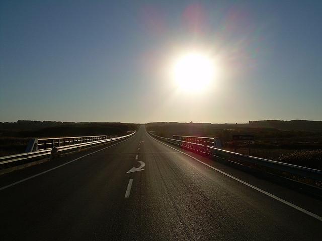 deslumbramientos en carretera