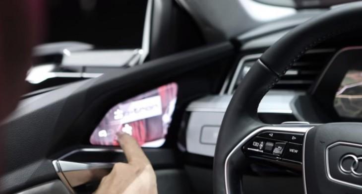retrovisores interactivos de Audi E-Tron