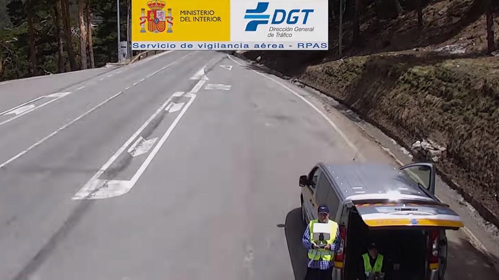 La DGT prueba a vigilar las carreteras con un camión y furgoneta camufladas